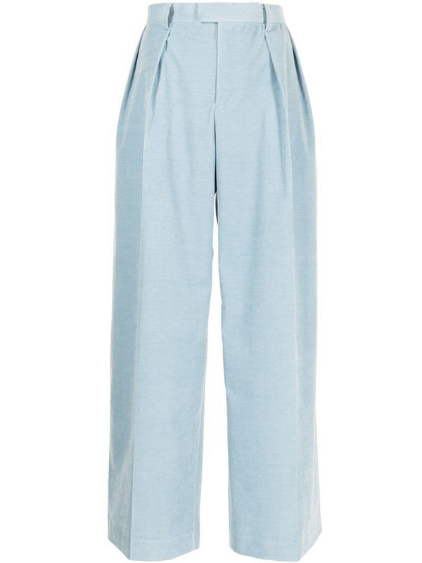 Undercover high-waisted tailored trousers in blue