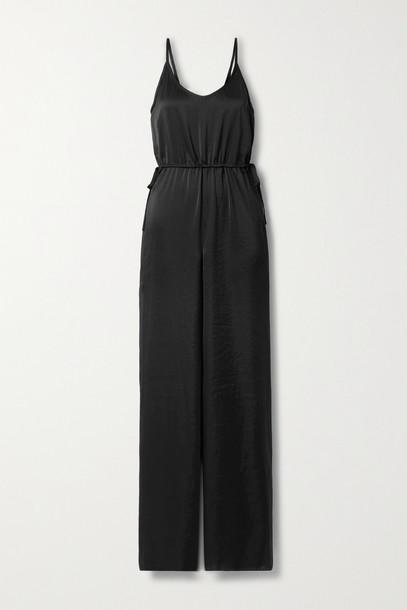 THEORY - Washed-satin Jumpsuit - Black