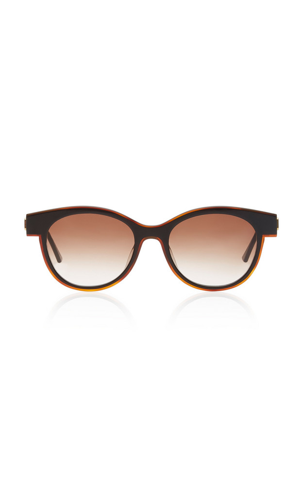 Thierry Lasry Lytchy Round-Frame Acetate Sunglasses in black
