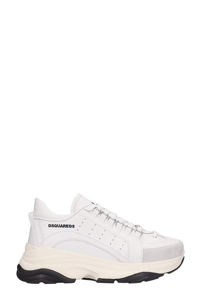 Dsquared2 White Leather Bumpy 551 Sneakers