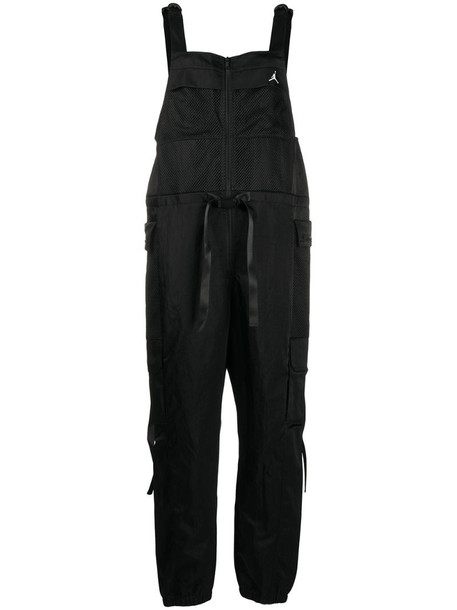 Nike mesh panels jumpsuit in black