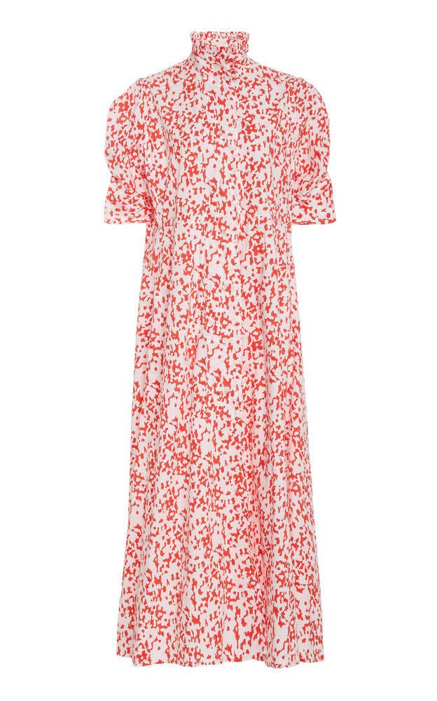 Thierry Colson Venetia Cotton Mock Neck Dress in pink