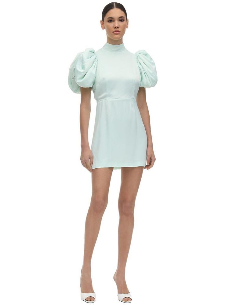 ROTATE Dusk Satin Mini Dress in mint