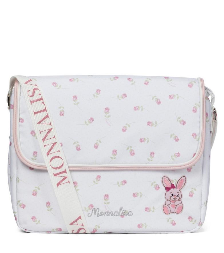 Monnalisa Floral-printed changing bag in pink