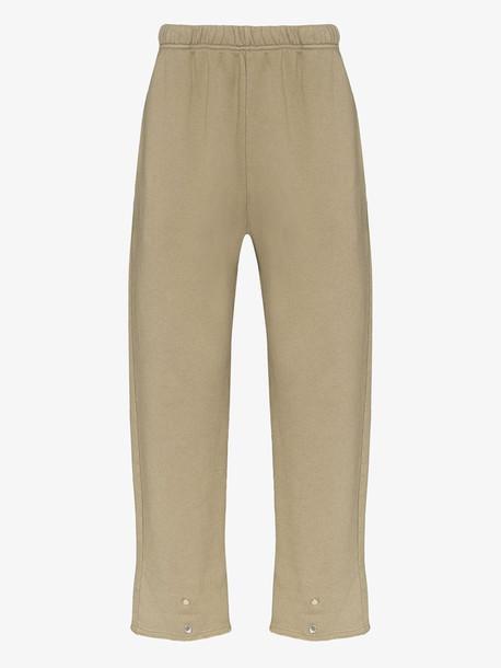 Les Tien snap front cotton sweatpants