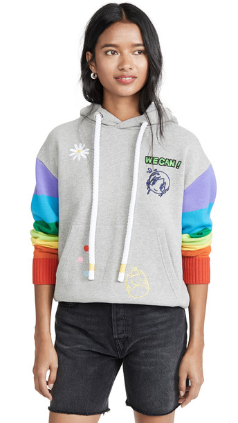 Mira Mikati x Mr 3D Monster Hoodie in grey / multi
