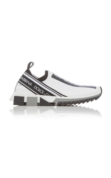 Dolce & Gabbana Logo-Trimmed Leather Slip-on Sneakers in multi