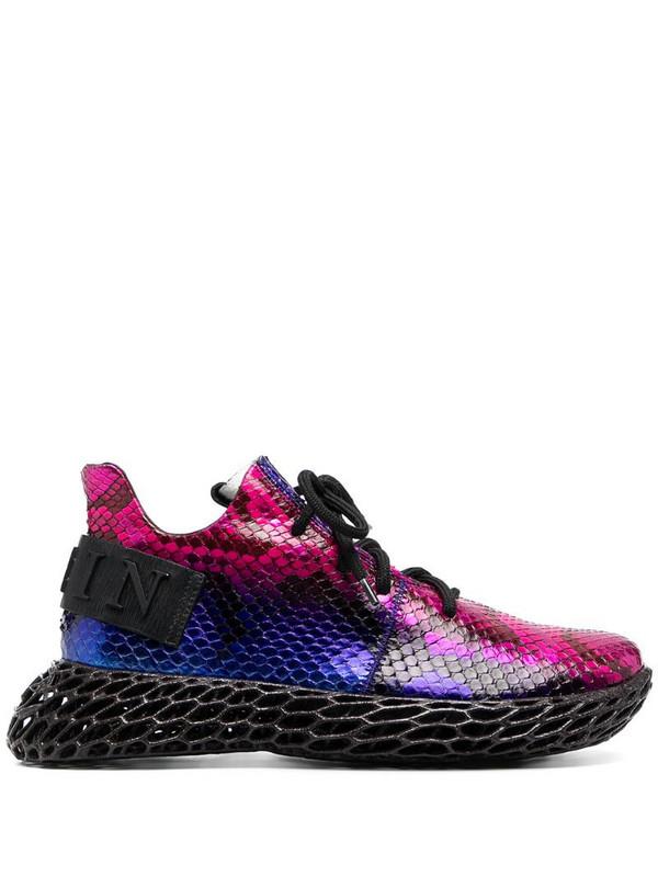 Philipp Plein Python snakeskin-effect sneakers in purple