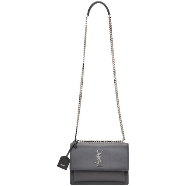 Saint Laurent Grey Medium Sunset Bag