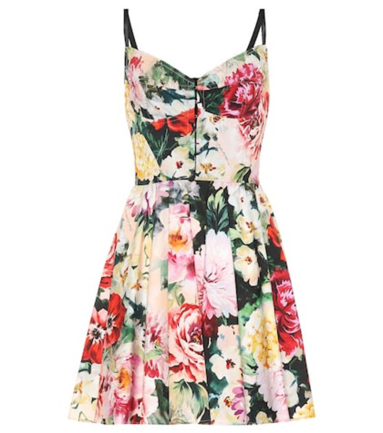 Dolce & Gabbana Floral stretch cotton minidress