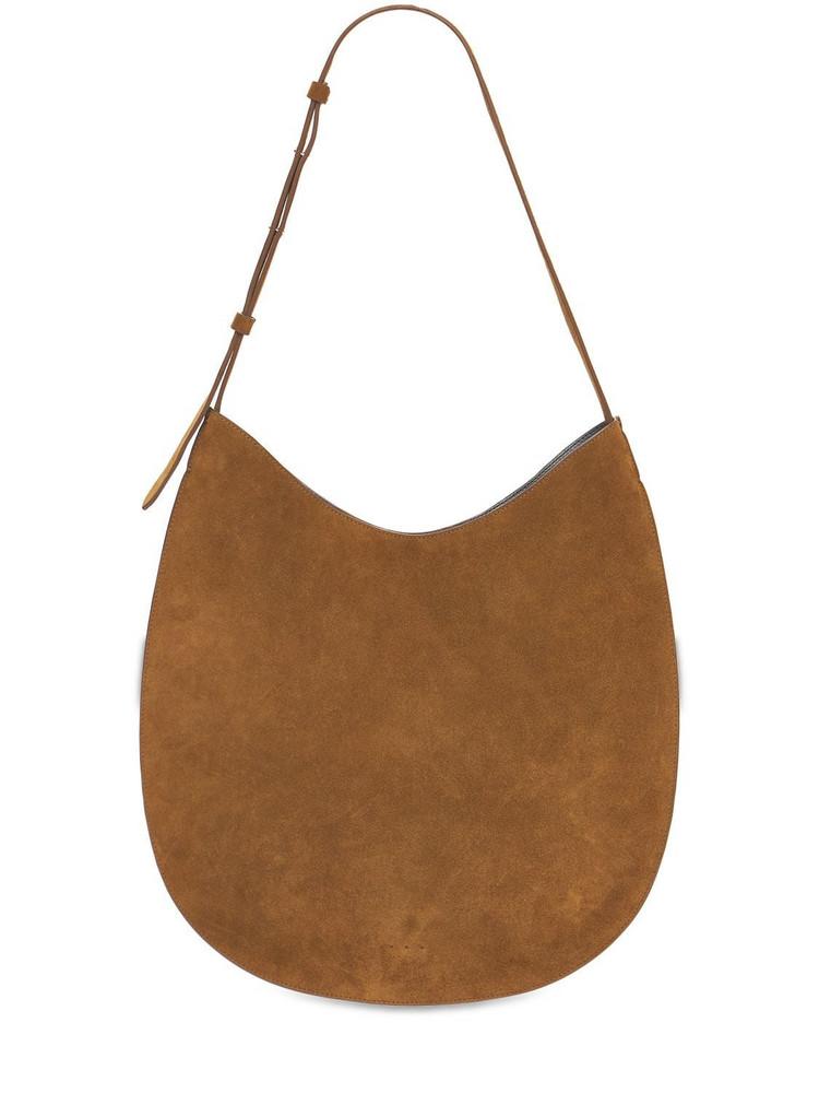 AESTHER EKME Flat Hobo Suede Shoulder Bag