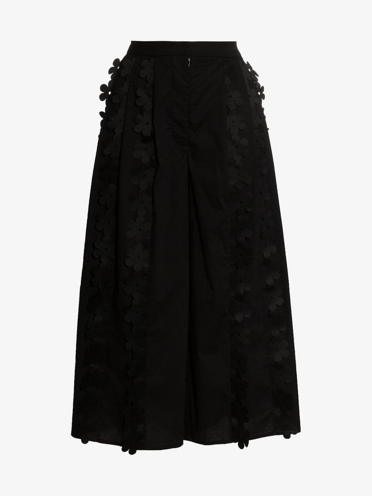Paskal Cropped wide-leg cotton blend culottes in black
