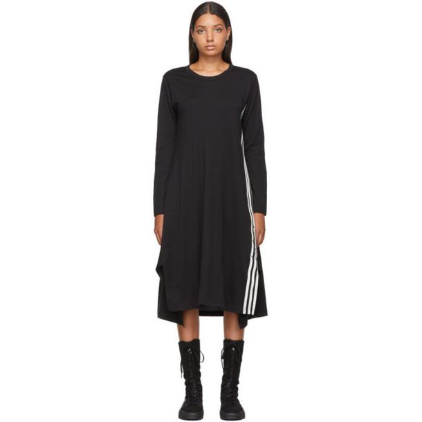 Y-3 Black Signature Long Sleeve T-Shirt Dress