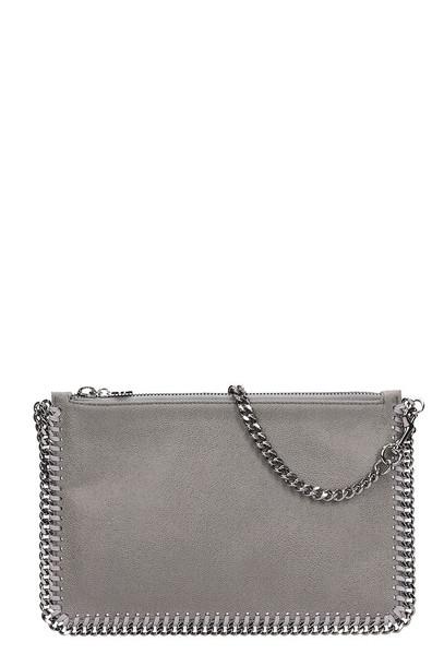 Stella McCartney Purse Grey Polyamide Clutch