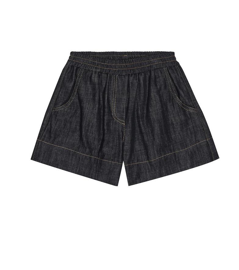 Brunello Cucinelli Kids Denim shorts in blue