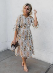dress,mustard,mustard dress,lace,embroidered,embroidered dress
