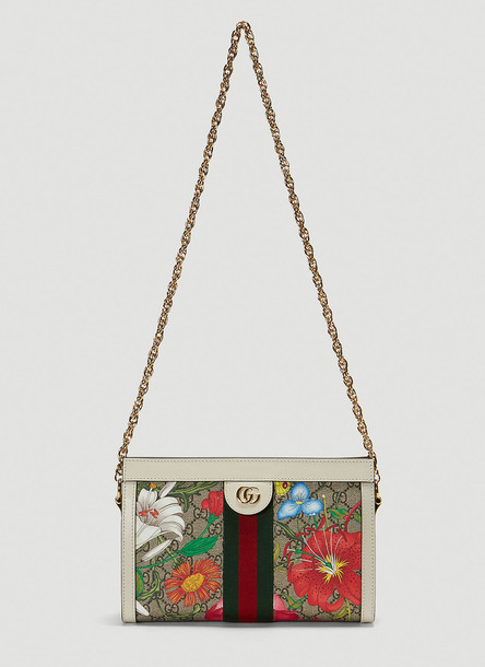 Gucci Small GG Ophidia Shoulder Bag in White size One Size