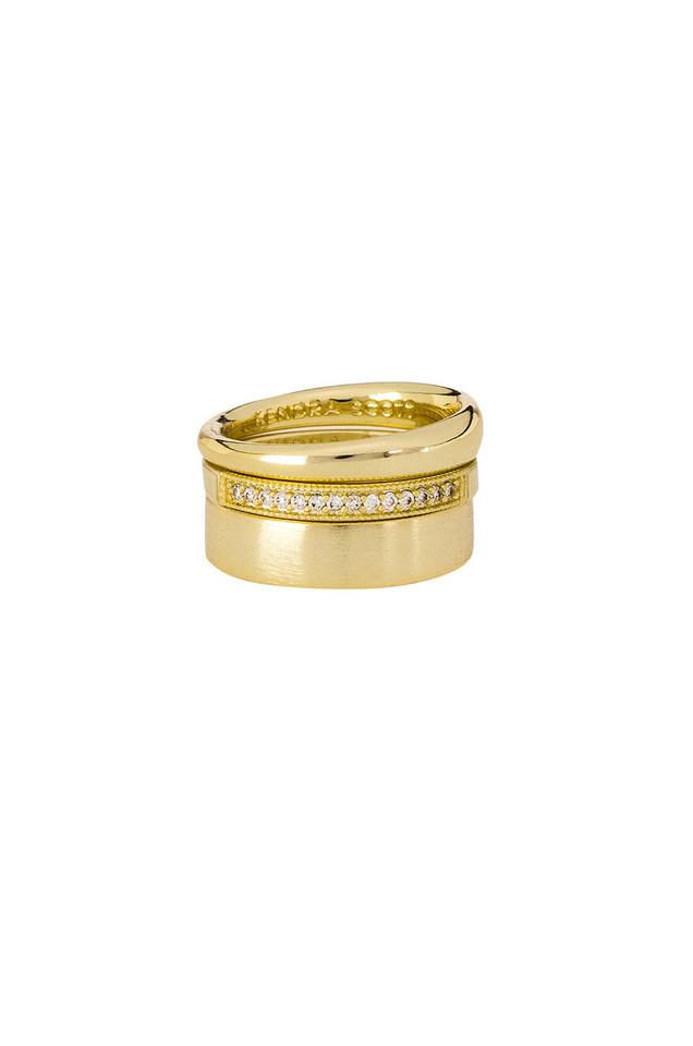 Kendra Scott Tate Midi Ring Set in gold / metallic
