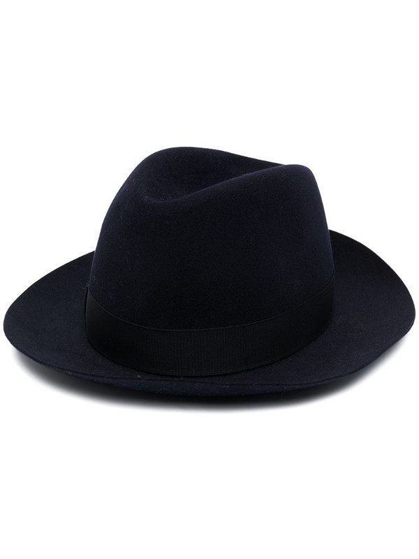 Borsalino ribbon-detail fedora hat