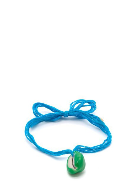 Aurélie Bidermann - Takayama Shell Embellished Ankle Bracelet - Womens - Blue