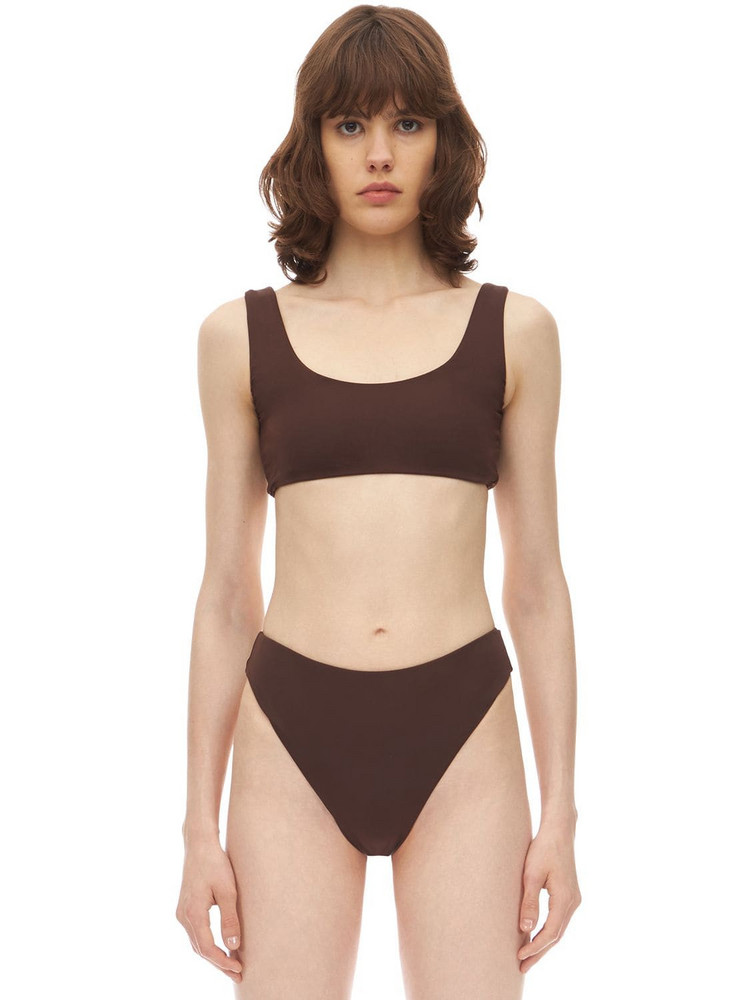 AEXAE Magnum Lycra Bikini Top in brown