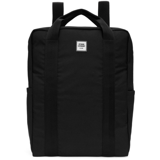 Opening Ceremony SSENSE Exclusive Black Logo Backpack