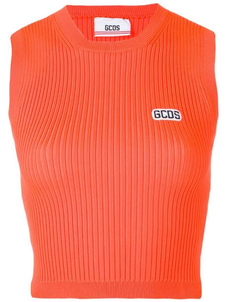 Gcds logo tank top in orange
