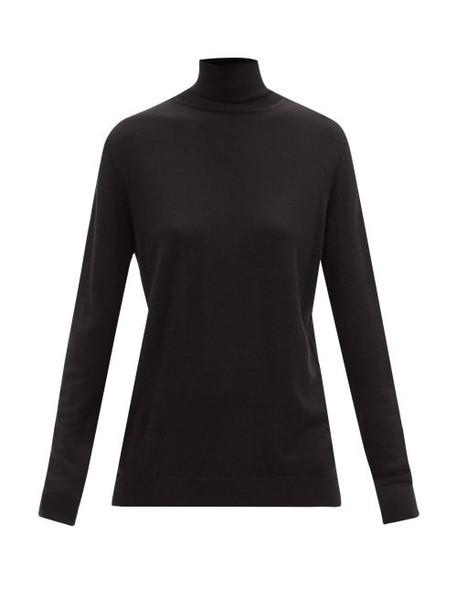 Raey - Roll-neck Fine-knit Merino Wool Sweater - Womens - Black