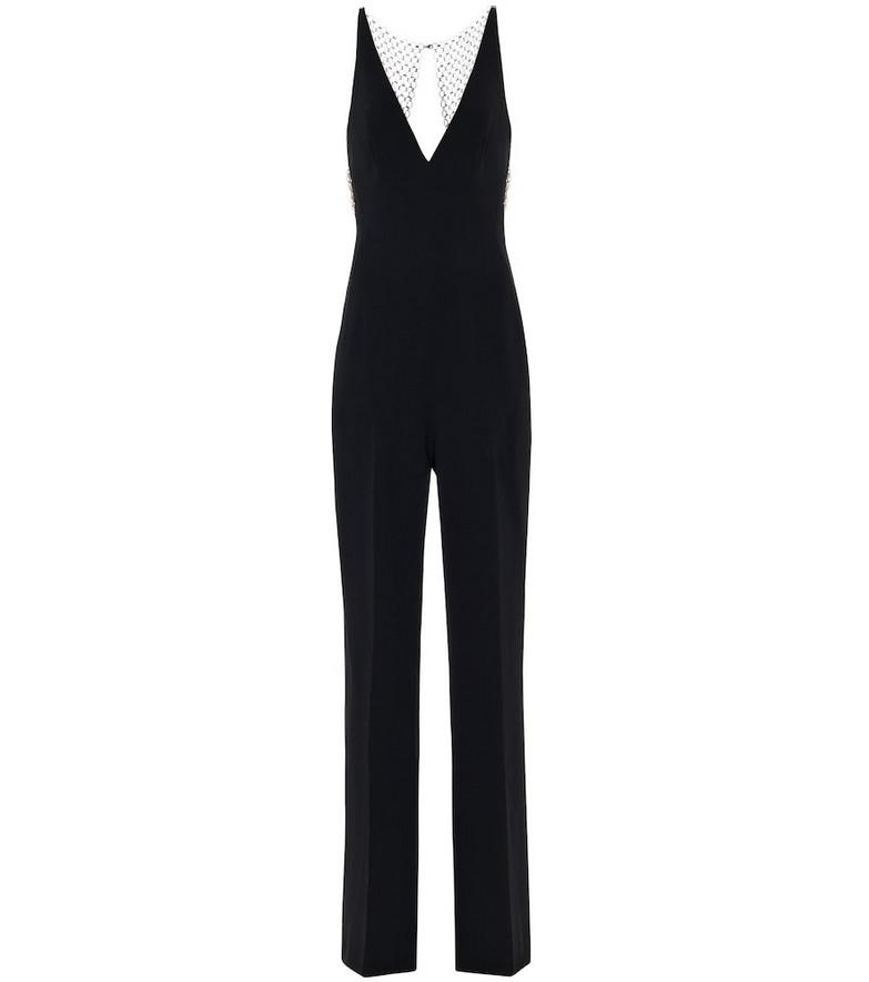Stella McCartney Embellished stretch-crêpe jumpsuit in black