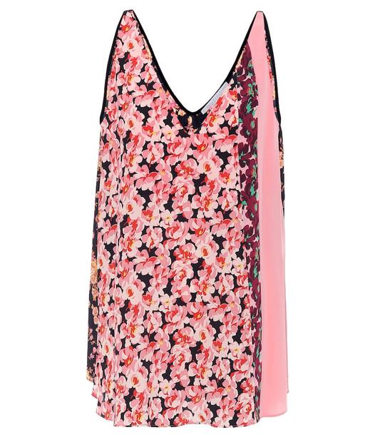 Stella McCartney Floral silk top in pink