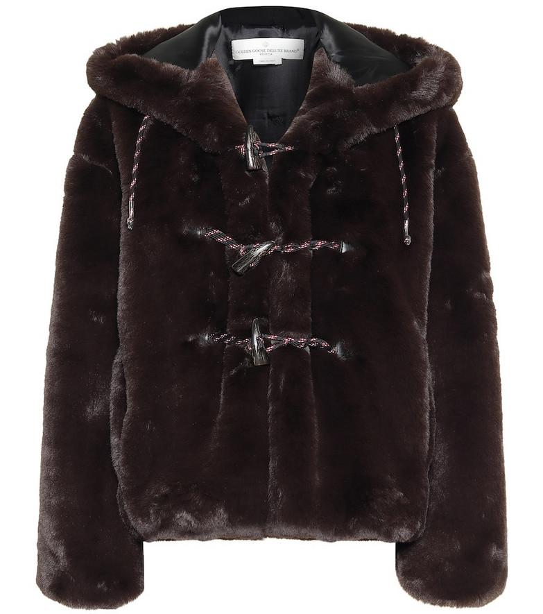 Golden Goose Tsubaki faux fur jacket in black