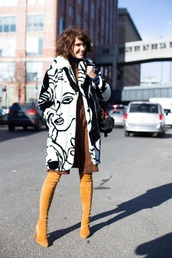 shoes,over the knee boots,mustard