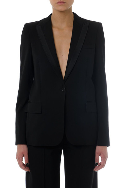 Stella McCartney Black Cotton-silk Blend Blazer