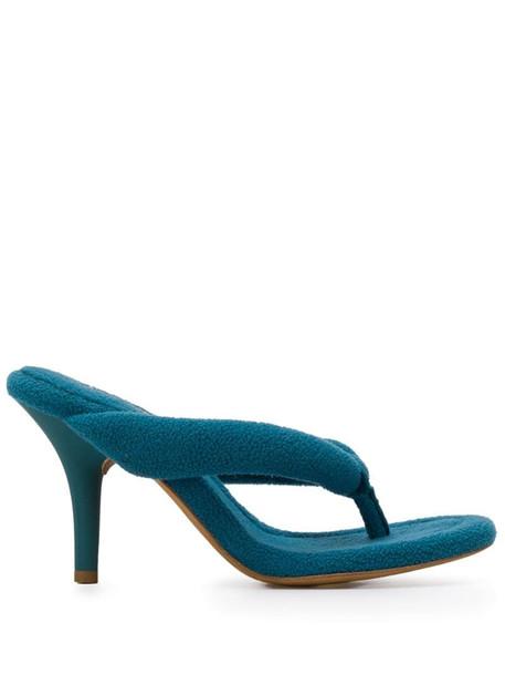 Yeezy Season 7 90 thong sandals in blue