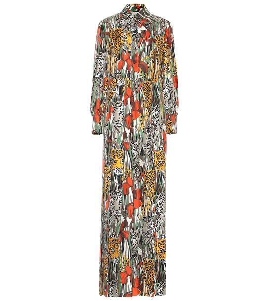 Gucci Printed silk maxi dress