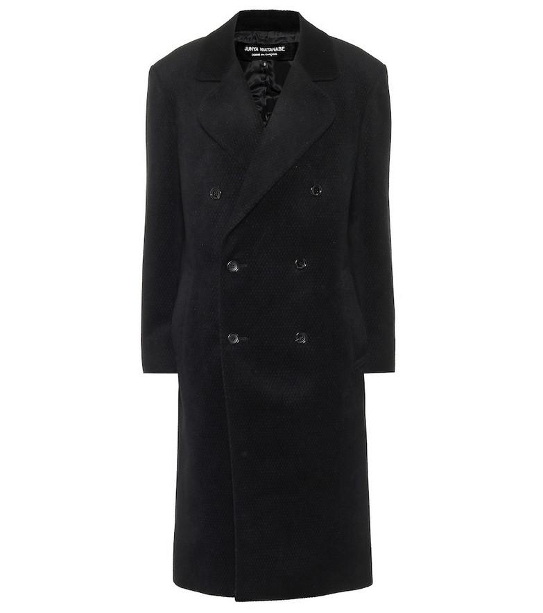 Junya Watanabe Angora and wool coat in black