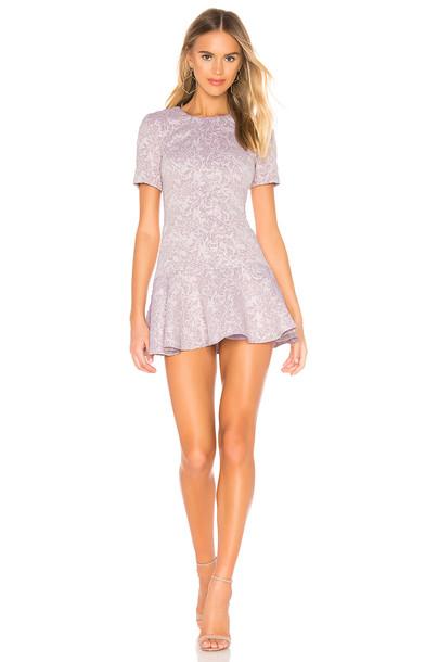 Amanda Uprichard Edina Dress in purple