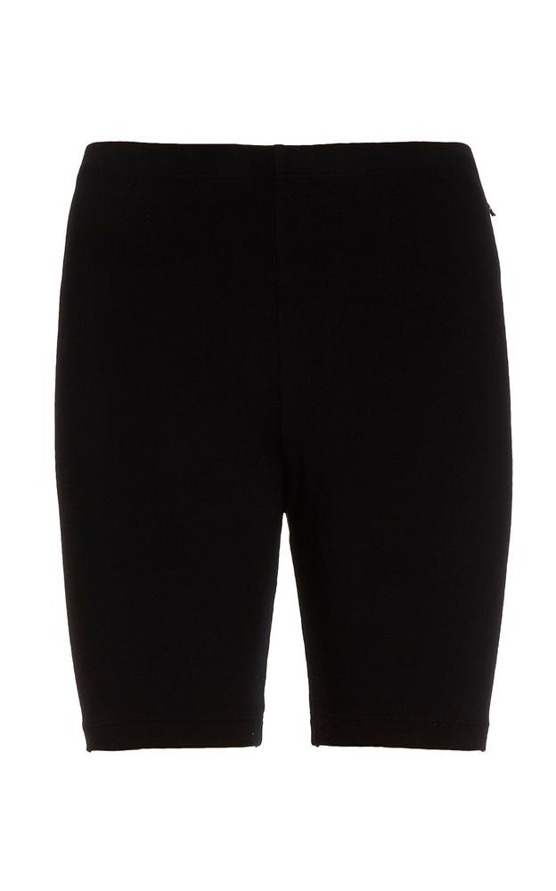 Cotton Citizen Milan Stretch-Cotton Biker Shorts in black