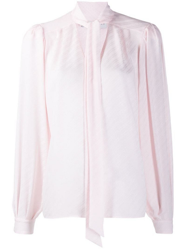Givenchy striped pussybow blouse in pink