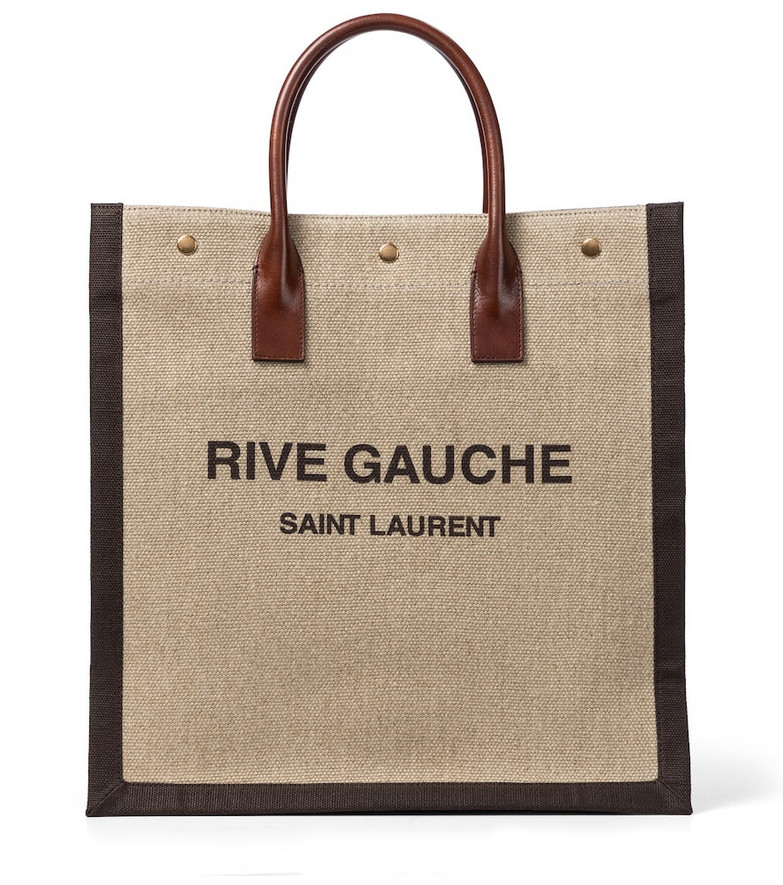 Saint Laurent Noe linen shopper in beige