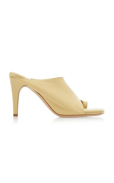 Bottega Veneta Leather Sandals in neutral