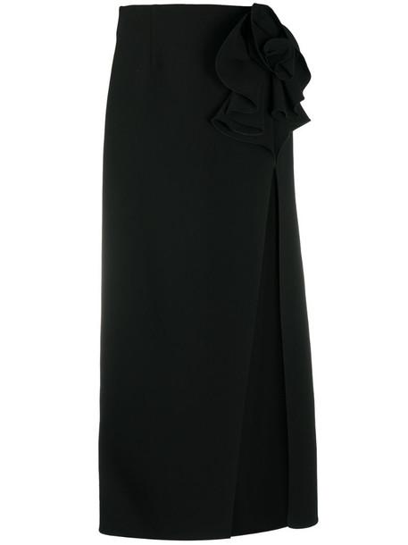 Magda Butrym high waisted split skirt in black