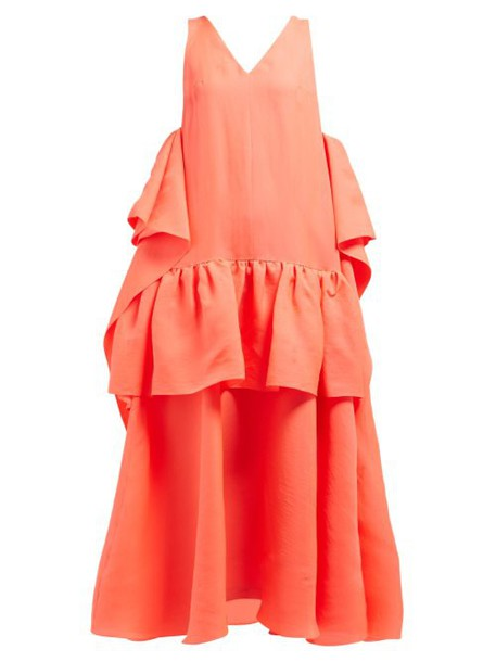 Roksanda - Laru Draping Silk Organza Gown - Womens - Red