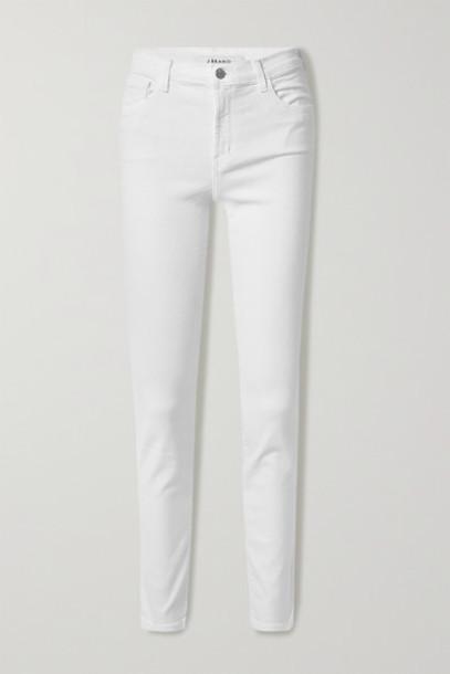 J Brand - Ruby High-rise Slim-leg Jeans - White