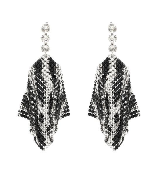 Isabel Marant Crystal-embellished mesh earrings in black