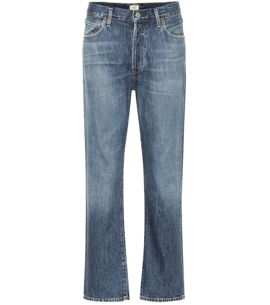 Citizens of Humanity McKenzie high-rise straight jeans in blue