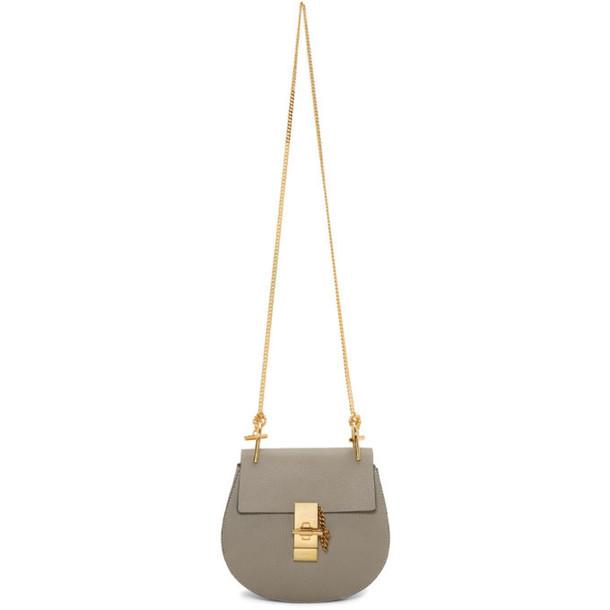 Chloe Grey Drew Shoulder Bag