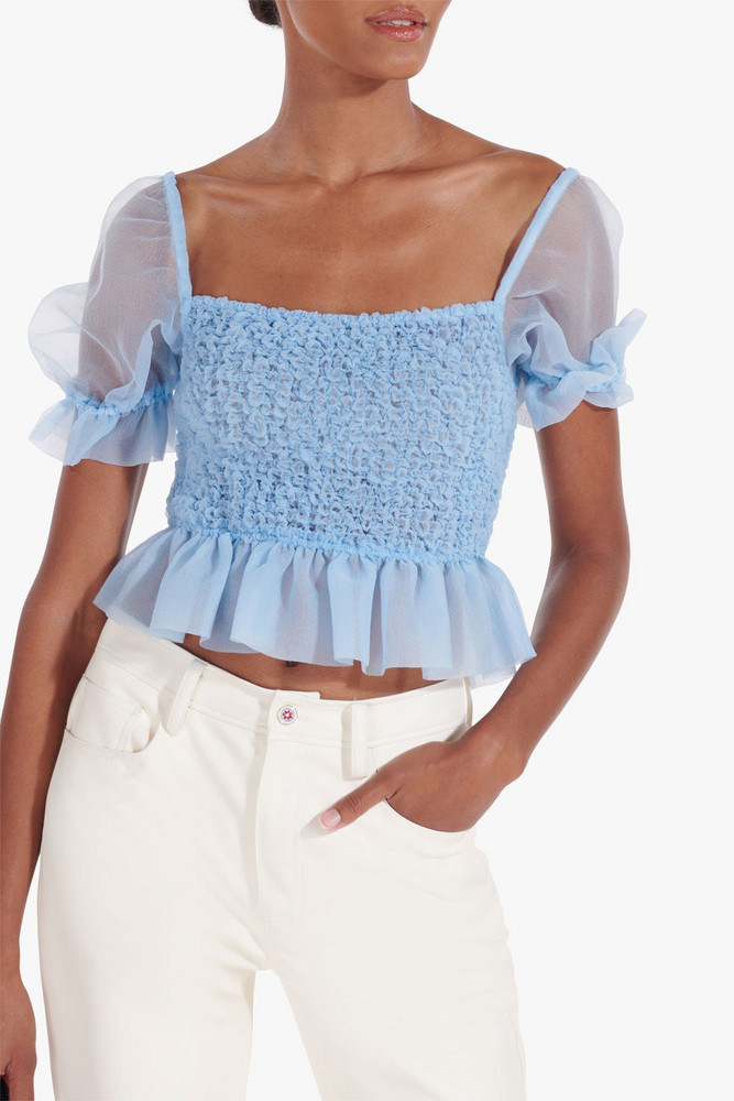 Staud CANNON TOP | FRENCH BLUE