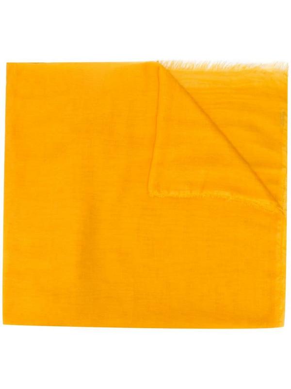 Faliero Sarti Tobia Baby frayed scarf in yellow