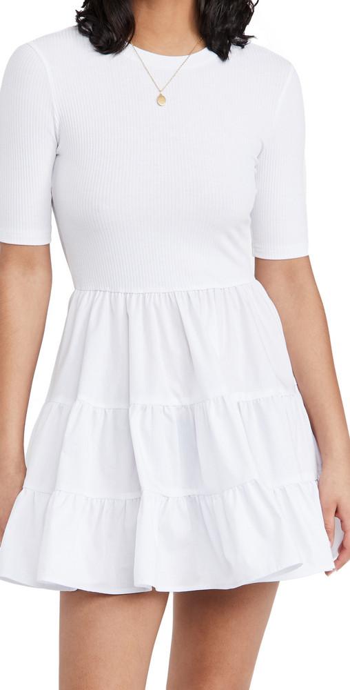 re:named re: named Adelina Basic Dress in white